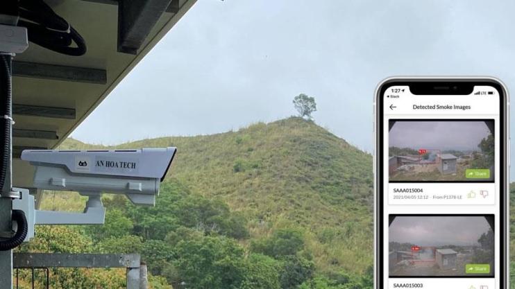 Camera AI cảnh báo cháy rừng bảo vệ rừng